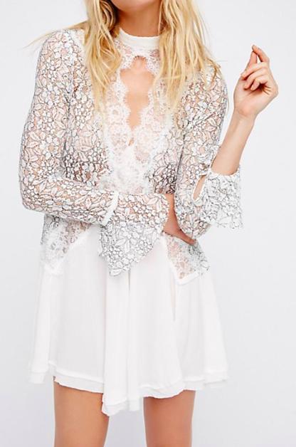 FP Secret Origins Pieced Lace Tunic
