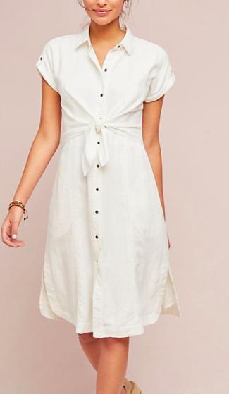 Maeve Elspeth Linen Shirtdress