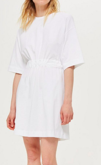 White T-Shirt Dress by Boutique