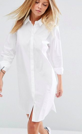 ASOS Cotton Mini Shirt Dress