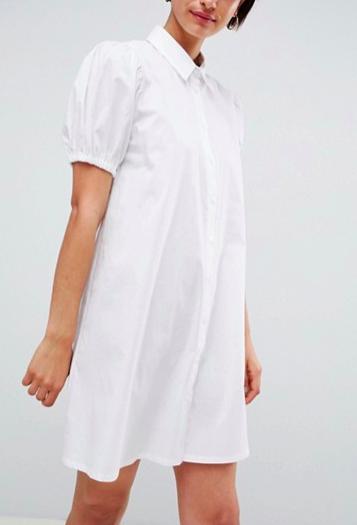 ASOS DESIGN cotton swing mini shirt dress