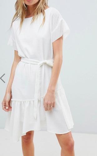 AllSaints Belted Flippy Dress
