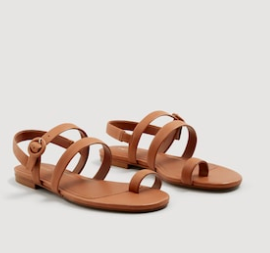 Mango Leather straps sandals