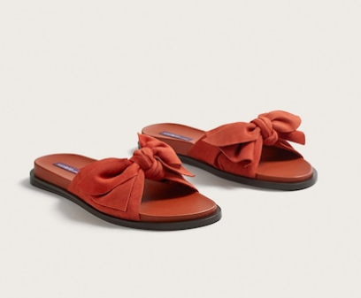 Mango Bow leather sandals