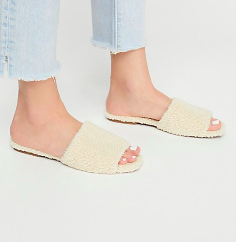 Jeffrey CAmpbell Teddy Bear Slide Sandal