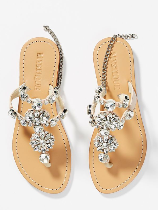 Mystique Crystal Embellished Gladiator Sandals