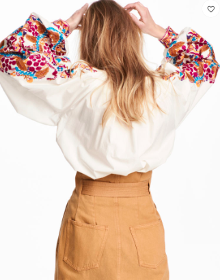 HM Blouse with Embroidery