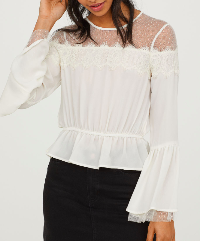 HM Blouse with Lace