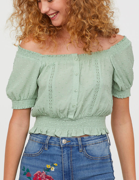 HM Textured-weave Blouse