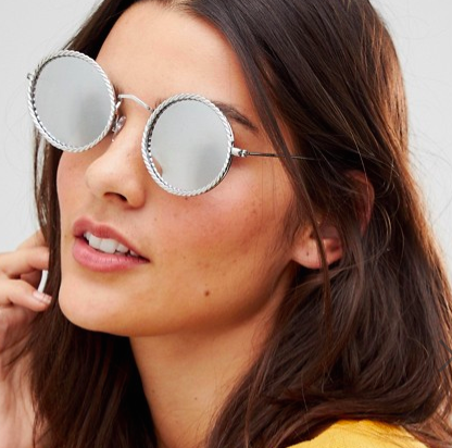 Jeepers Peepers Embelished Round Sunglasses In Silver