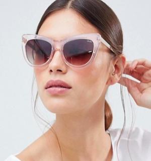 55b74843a12 Quay Australia Steal A Kiss Cat Eye Sunglasses In Pink