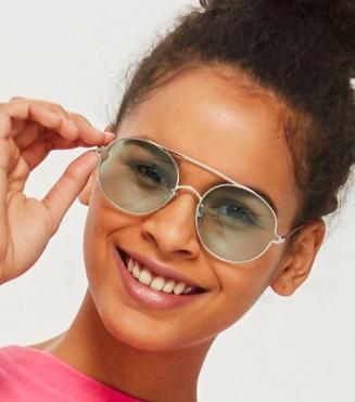 Topshop Luna Round Frame Sunglasses