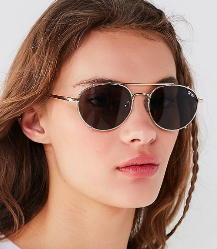 Quay Little J Aviator Sunglasses