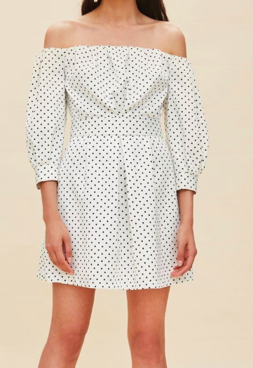 Topshop Mini Polka Dot Bardot Dress