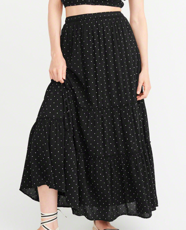 Abercrombie TIERED MAXI SKIRT