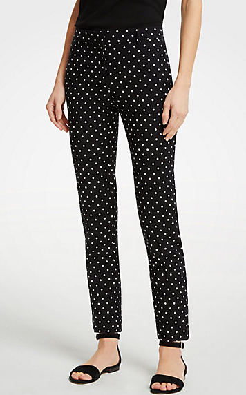 Ann Taylor Dotted Pants