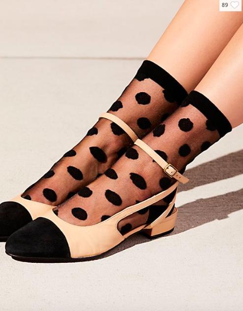 FP Polka Dot Sheer Anklet