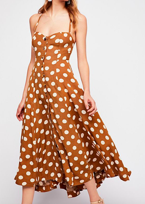 FP The One Dot Midi Dress