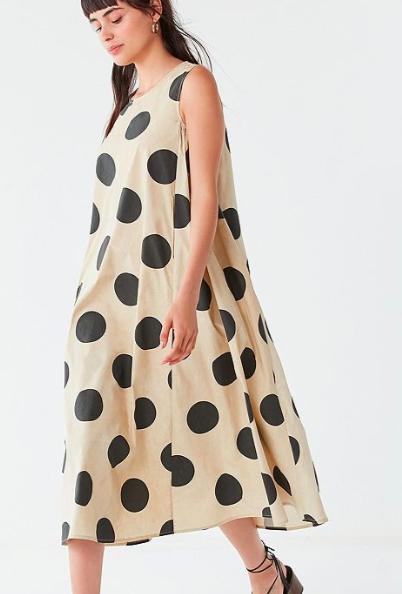 CAARA Chelsea Polka Dot Midi Dress