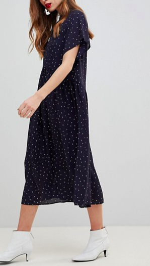 Y.A.S Polka Dot Smock Dress