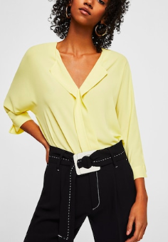 Mango Lapels flowy shirt