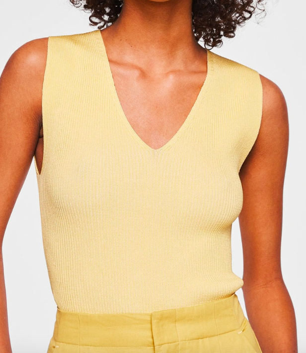 Mango Ribbed top