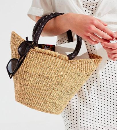 Urban Renewal Remade Small Straw Bag