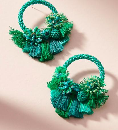 Mishky Luau Hooped Post Earrings