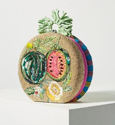 Anthropologie Fruit-Embellished Clutch