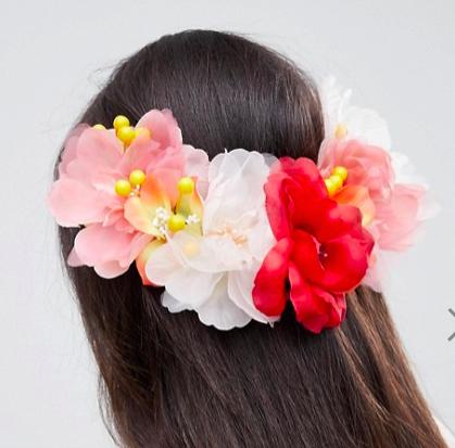 ASOS DESIGN Large Floral Bloom Back Hair Clip