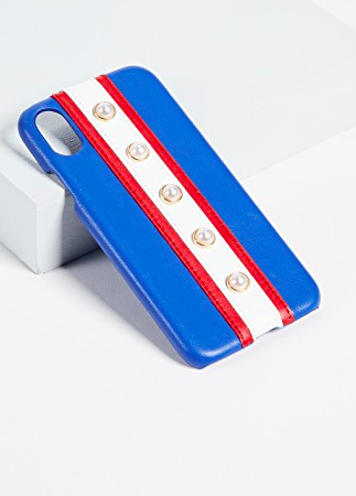 Iphoria Stripes & Pearls iPhone X Case