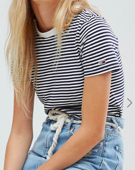 Tommy Jeans Classics Striped Flag Boyfriend T-Shirt