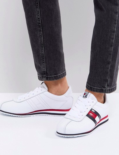 Tommy Jeans Flag Logo Lace Up Sneakers