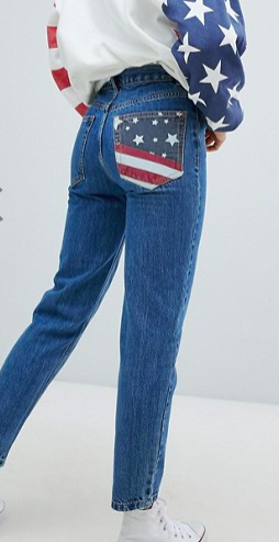 Pull&Bear Usa Flag Mom Jeans