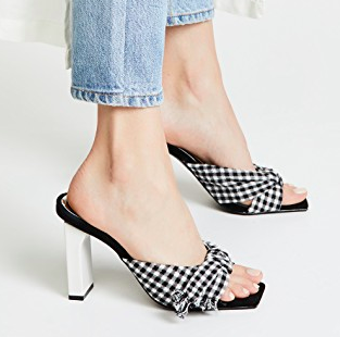 JAGGAR Knot Gingham Sandals