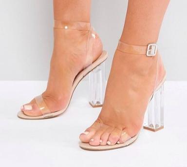 Public Desire Alia Clear Heeled Sandals