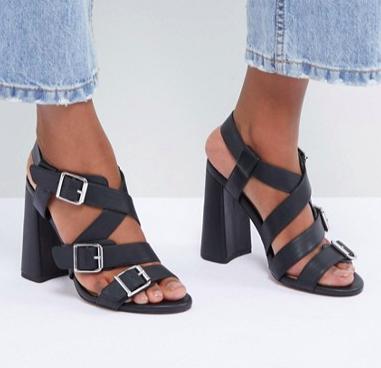 ASOS DESIGN Hamilton Multi Strap Block Heeled Sandals