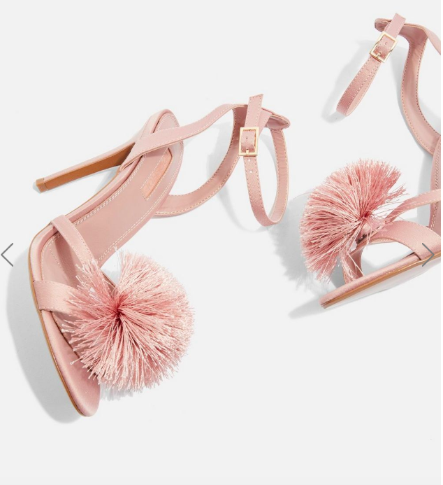 Topshop Renee Pom Pom Sandals