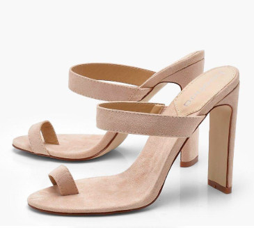Boohoo Harriet Toe Post Mule Heels