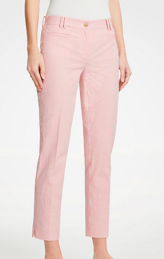 Ann Taylor The Crop Pant In Seersucker