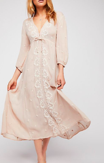FP Embroidered Fable Midi Dress