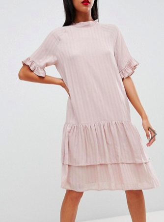 Selected Femme high neck stripe dress