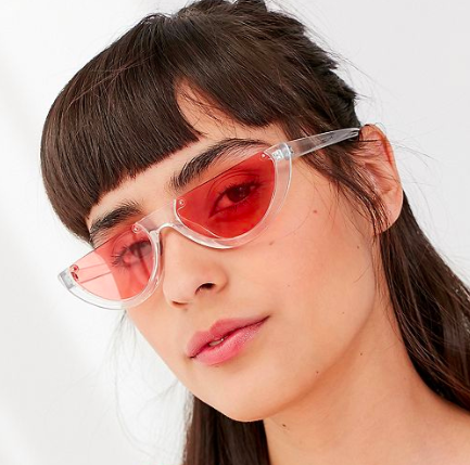 UO Half Moon Slim Sunglasses