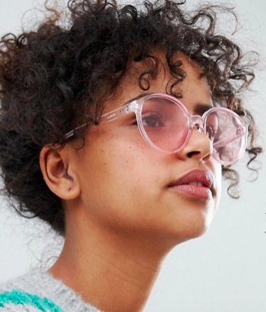 ASOS 2 Pack Plastic Round Sunglasses In Colored Lens