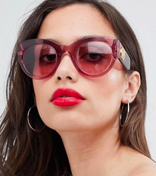 Versace cat eye sunglasses in pink