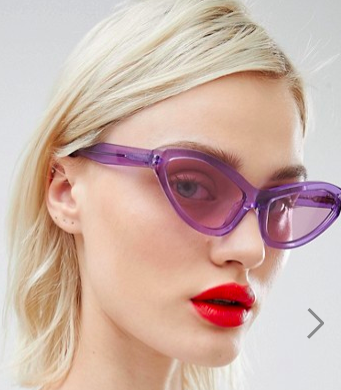 House of Holland lilac extreme cat eye sunglasses