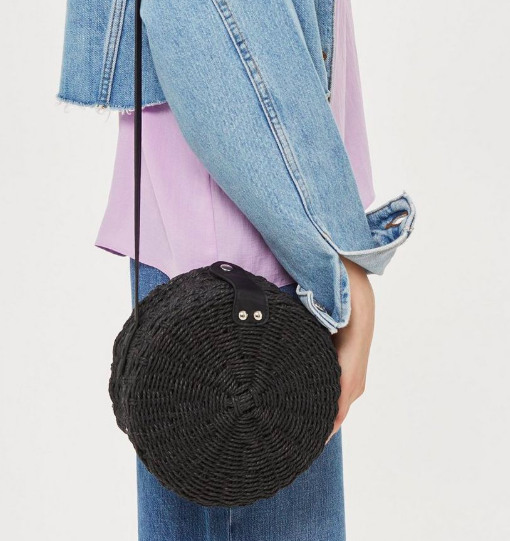 Barbar Straw Circle Cross Body Bag