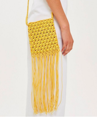 Topshop Beaded Fringe Cross Body Bag