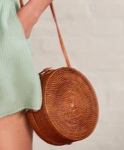 UO Circle Straw Crossbody Bag