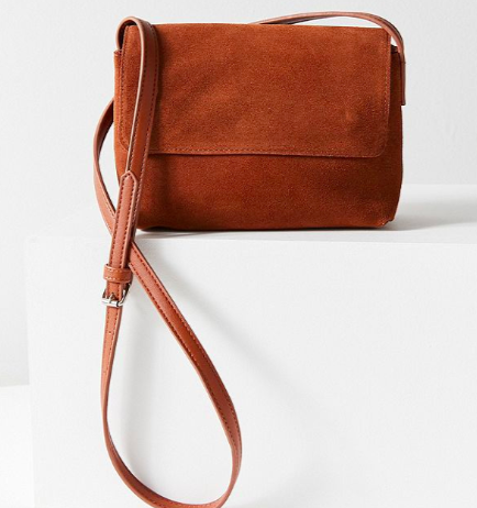 UO Margot Suede Crossbody Bag